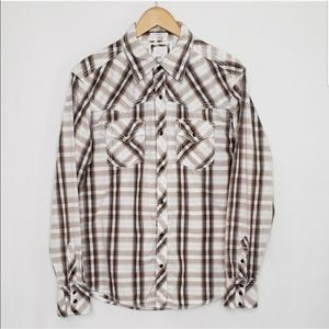 BKE Western Button Down Western Slim Fit Shirt